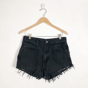 Wrangler cutoff black jean shorts